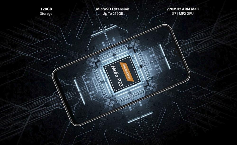 UMIDIGI One Maxは128GBストレージを搭載。