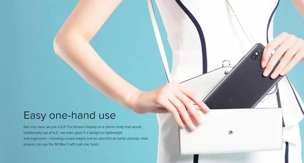 Xiaomi Mi Max 3の筐体サイズは非常に大きいので購入前にサイズ感をチェックしたほうが良さげです。