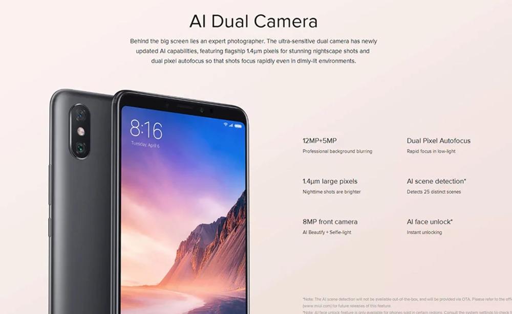 Xiaomi Mi Max 3はAIカメラを搭載。