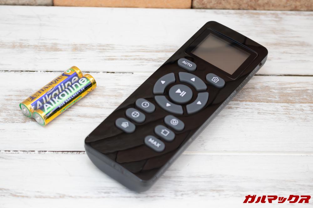 amarey A800はリモコンも付属しています。