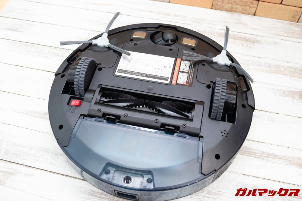 amarey A800は3つのブラシでゴミを効率的に吸い込みます。