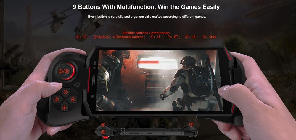 DOOGEE S70は専用のゲームパッドを利用可能です。