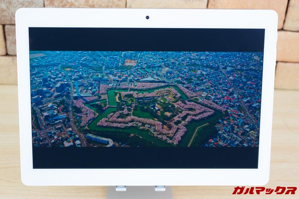 ALLDOCUBE M5Xは高解像度パネルを搭載しているので高解像度映像も楽しめます。