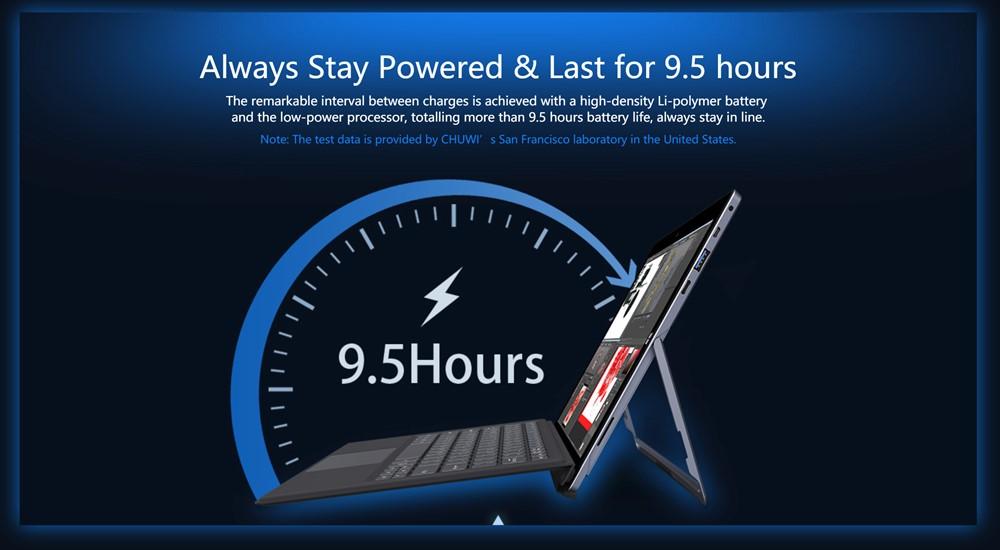 CHUWIUbookは最長9.5時間の連続駆動時間を実現!