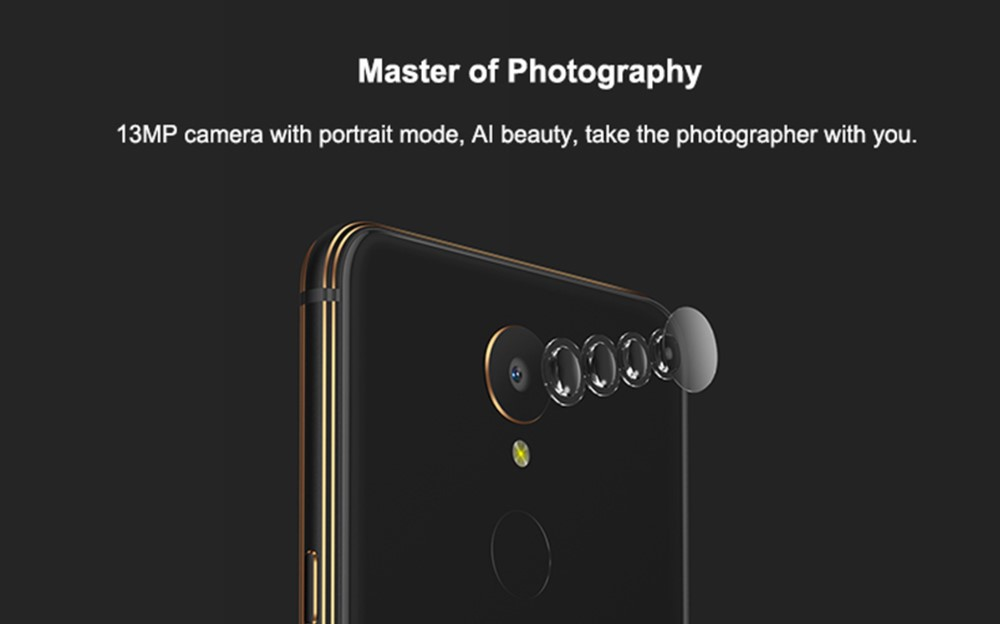 GOME U7は1300万画素カメラを搭載。