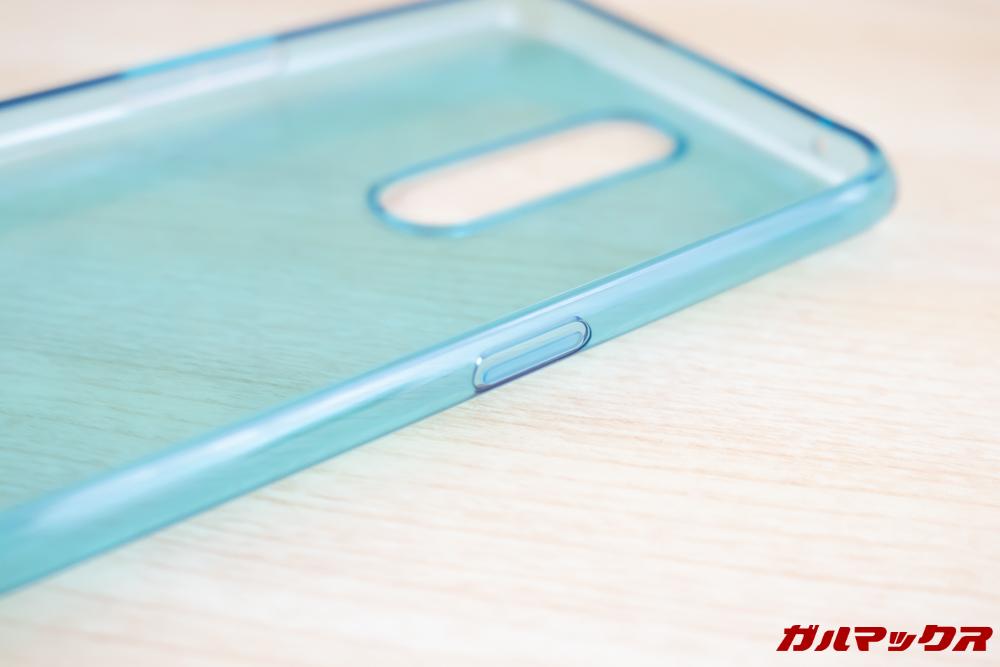 OPPO R17 Proの付属ケースはボタン部分までしっかり保護されているケースです。