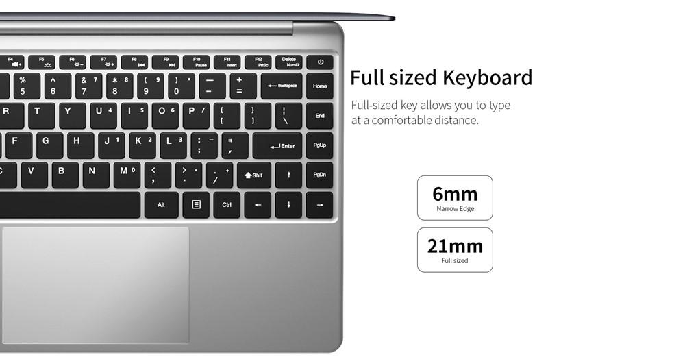 Teclast F7 Plusはフルサイズのキーボードを搭載しているので長文のタイピングもラクラク。