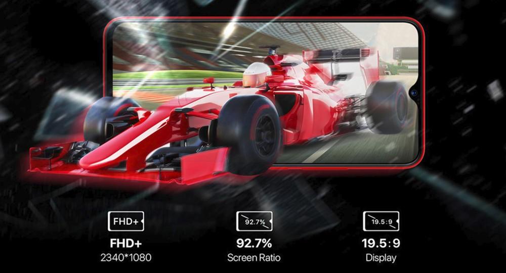 UMIDIGI F1はノッチ付きの大画面ディスプレイを搭載。