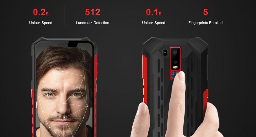 Ulefone Armor 6は指紋認証以外に顔認証にも対応しています。