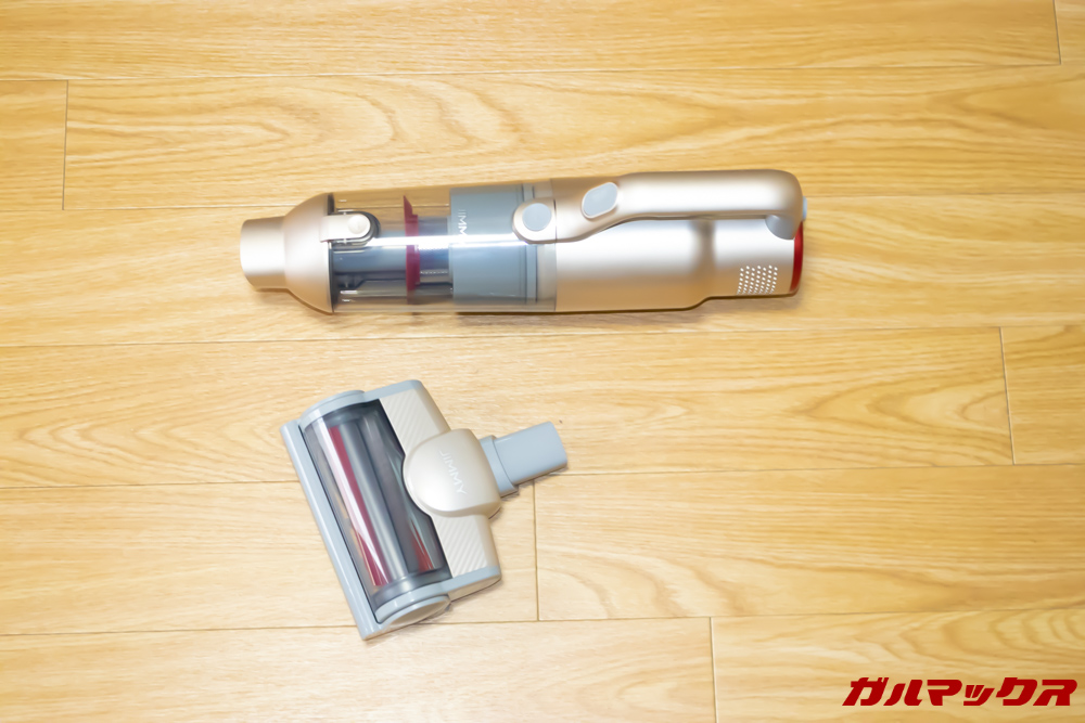 Xiaomi JV71 Vacuum Cleanerのバキュームと布団用の先端を用意します。