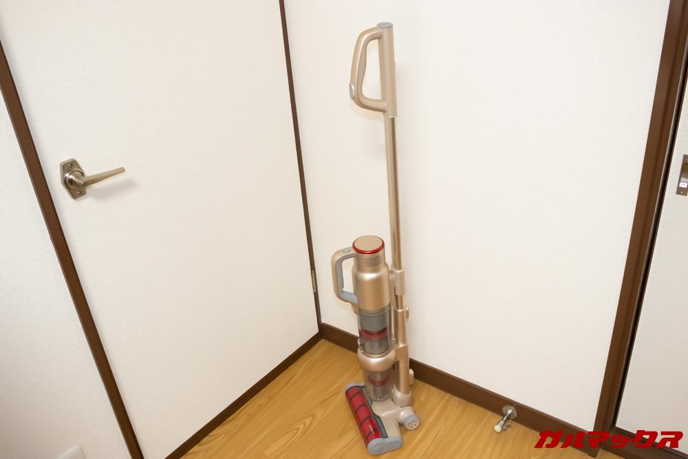 Xiaomi JV71 Vacuum Cleanerは自立するので便利。
