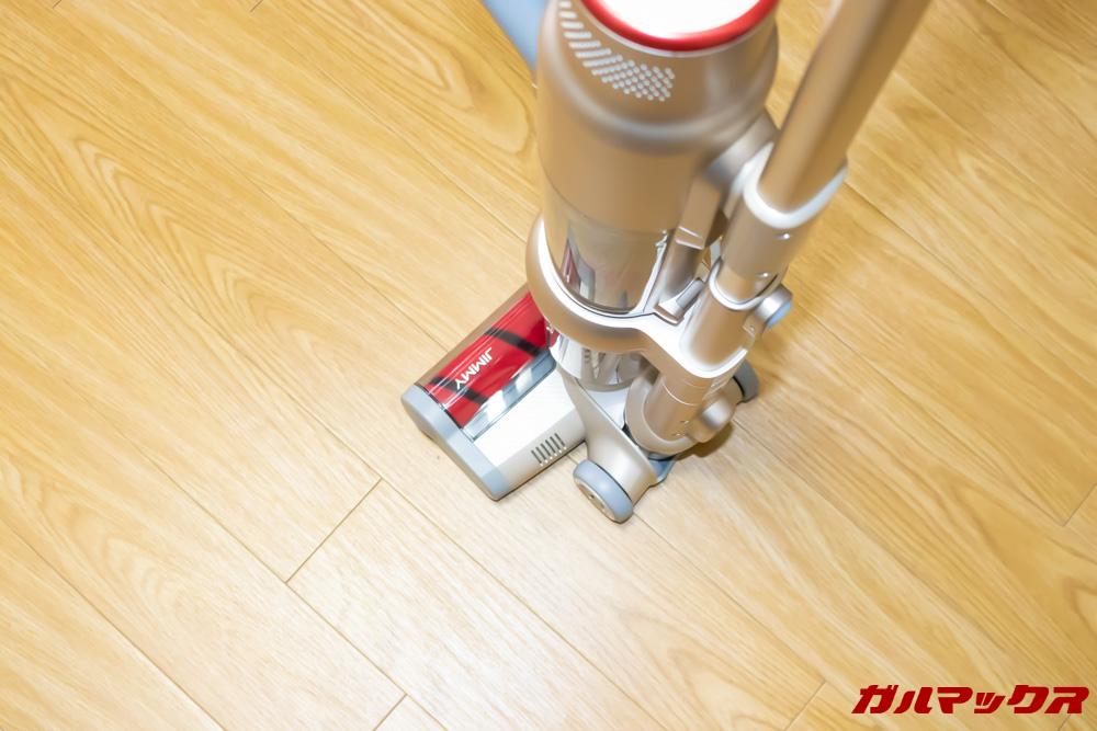 Xiaomi JV71 Vacuum Cleanerのヘッド先端はガチャッと直角に固定されます。