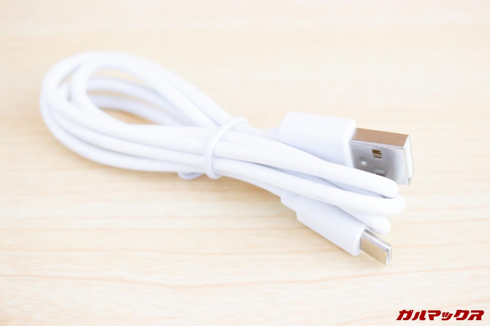 CUBOT X19はUSB Type-Cケーブルが付属しています。