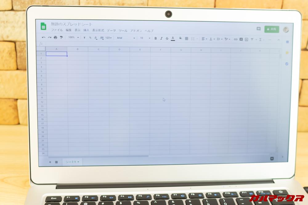 Jumper EZbook 3 Proはスプレッドシートでの編集も快適