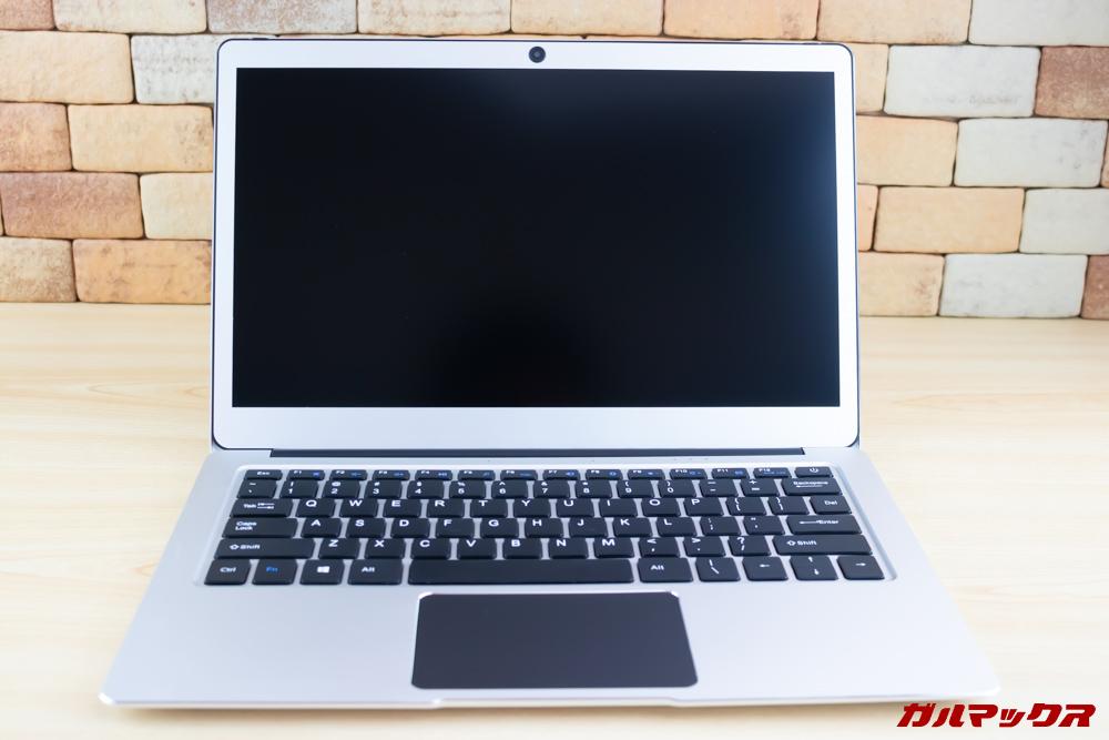 Jumper EZbook 3 Proは非光沢ディスプレイを表示