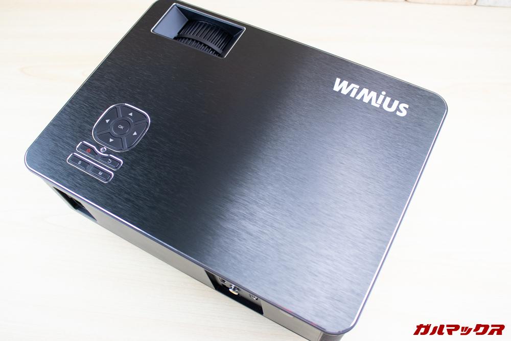 WiMiUS P18の天板は小洒落た加工が施されてます。