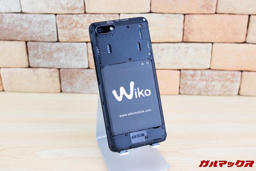 Wiko Tommy3 Plusのバッテリーは取り外し出来るので長期利用も安心です。
