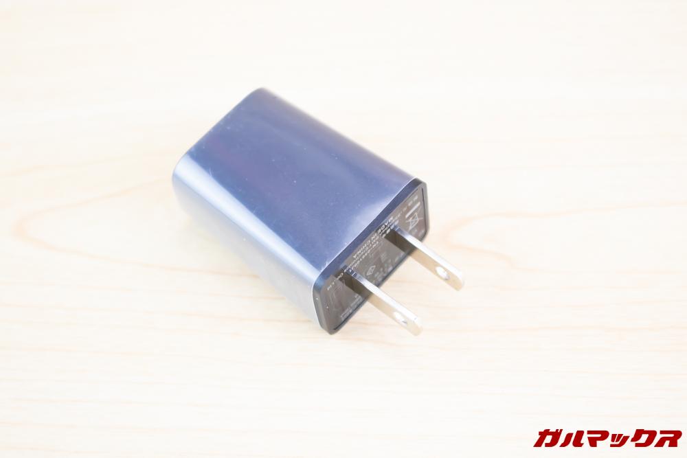 Wiko Tommy3 Plusの充電器は日本のコンセントに挿すことが出来る形状です。