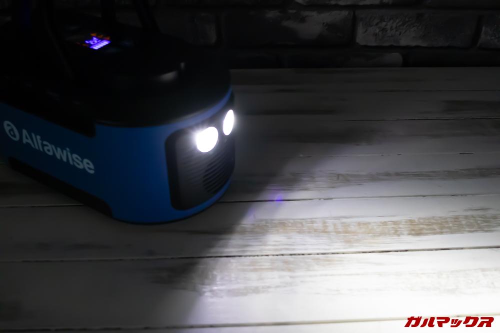 Alfawise S420はライトが備わっています。
