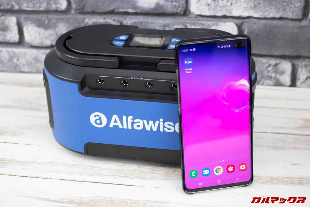 Alfawise S420は案外コンパクトな筐体サイズです。