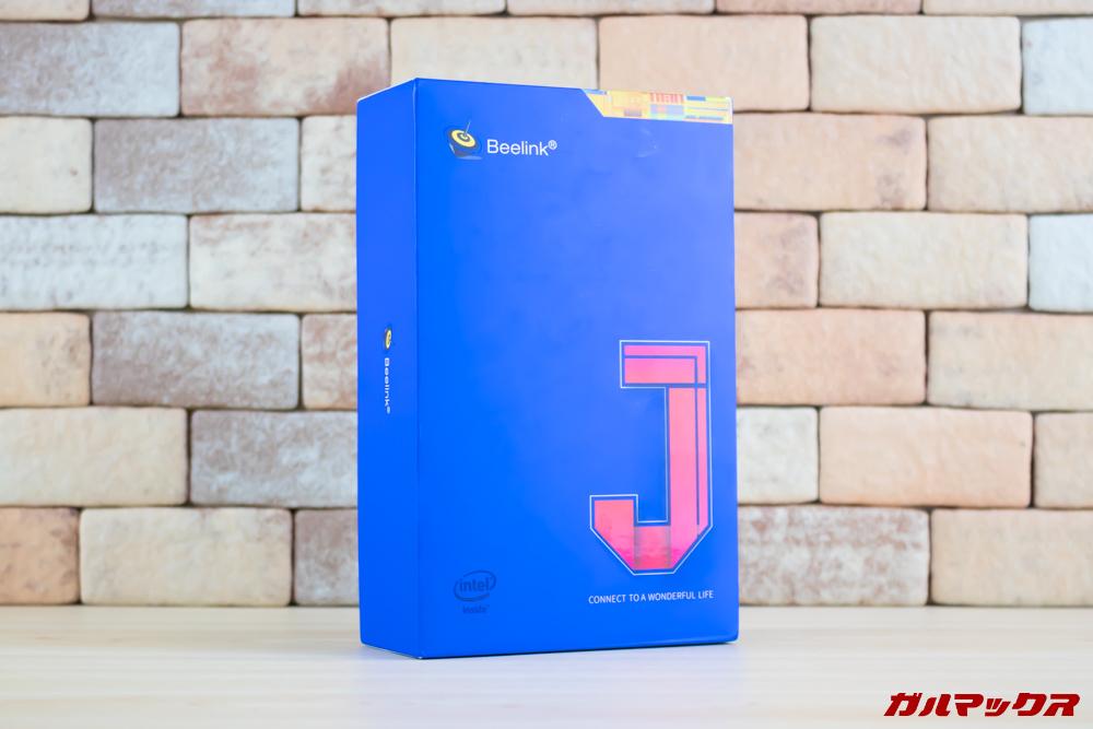 Beelink J45はブルーのコンパクトなボックスに入って届きました。