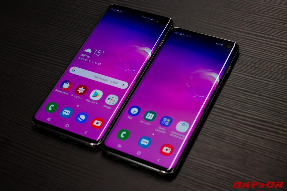 「Galaxy S10」と「Galaxy S10+」