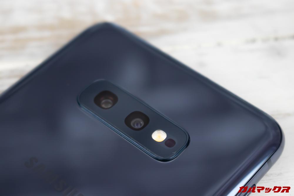 「Galaxy S10e」はデュアルカメラを搭載。