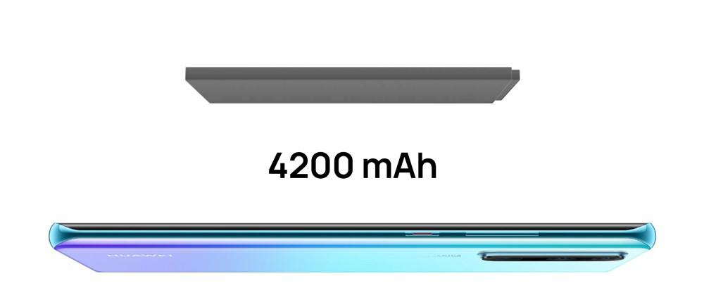 HUAWEI P30 Proは4200mAhの大容量バッテリーを搭載しています。