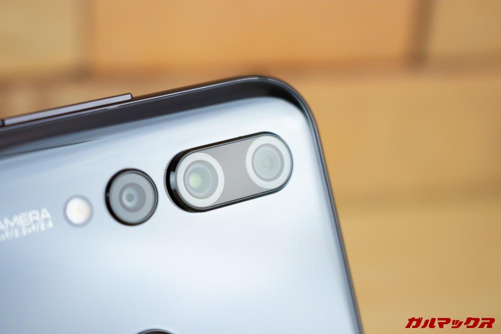 Huawei nova 4のカメラはトリプルカメラで3つ備わってます。