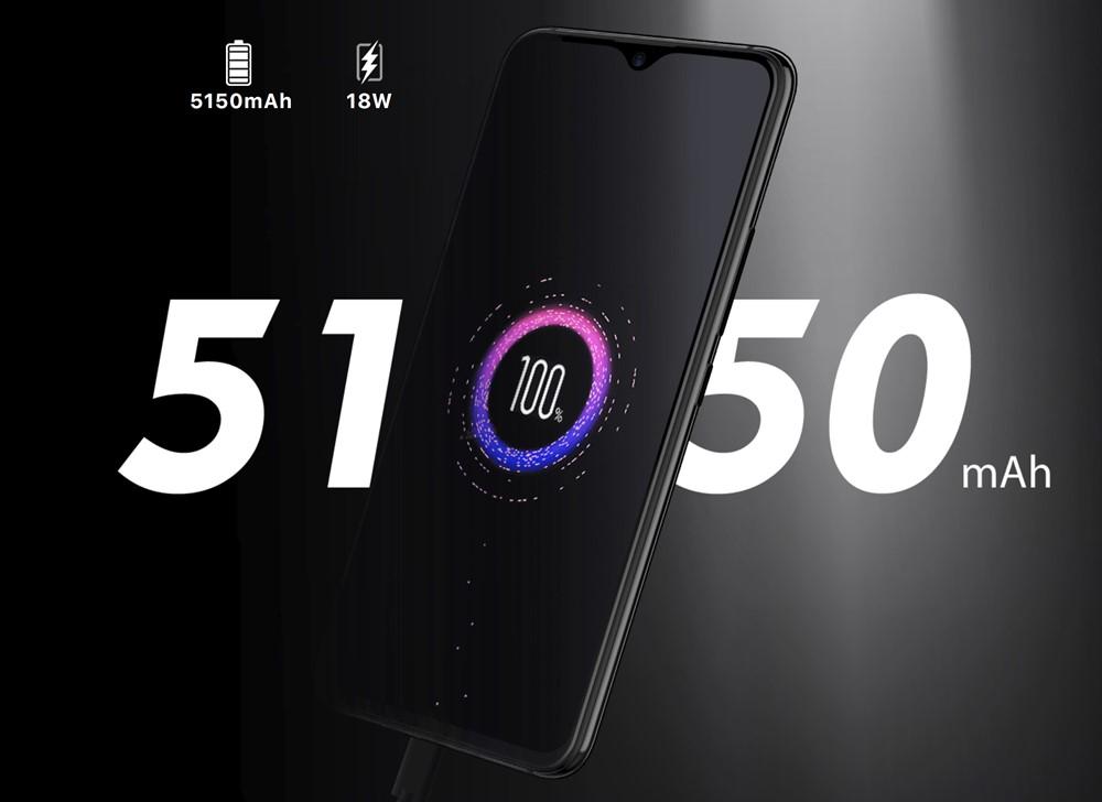 UMIDIGI S3 Proは5150mAhバッテリーを搭載。