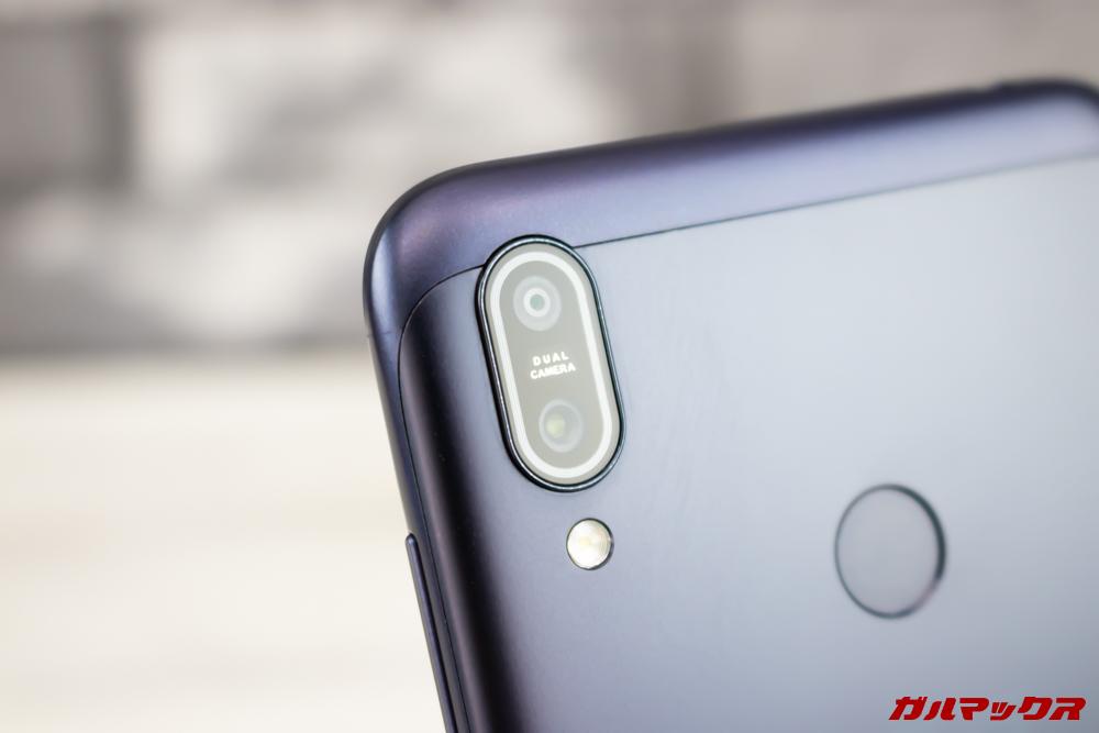 ZenFone Max (M2)の背面にはデュアルカメラを搭載。