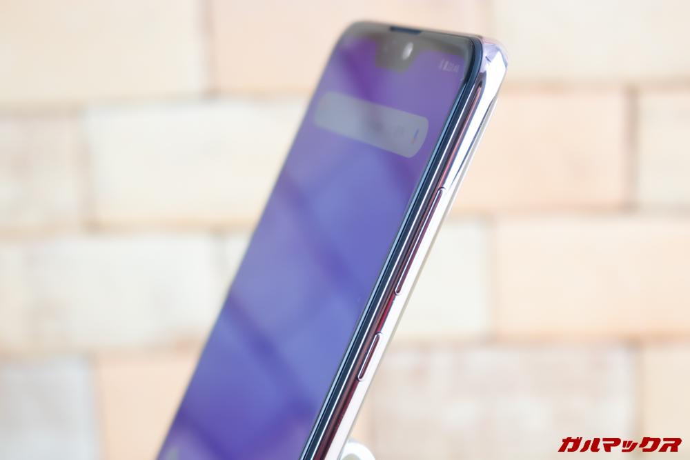 ZenFone Max Pro (M2)のボタンは右側に搭載