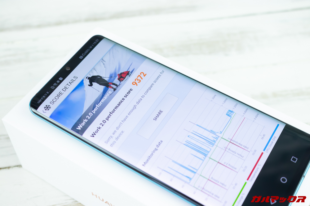 HUAWEI P30 Proの実機PCMark for Androidスコアは9372点