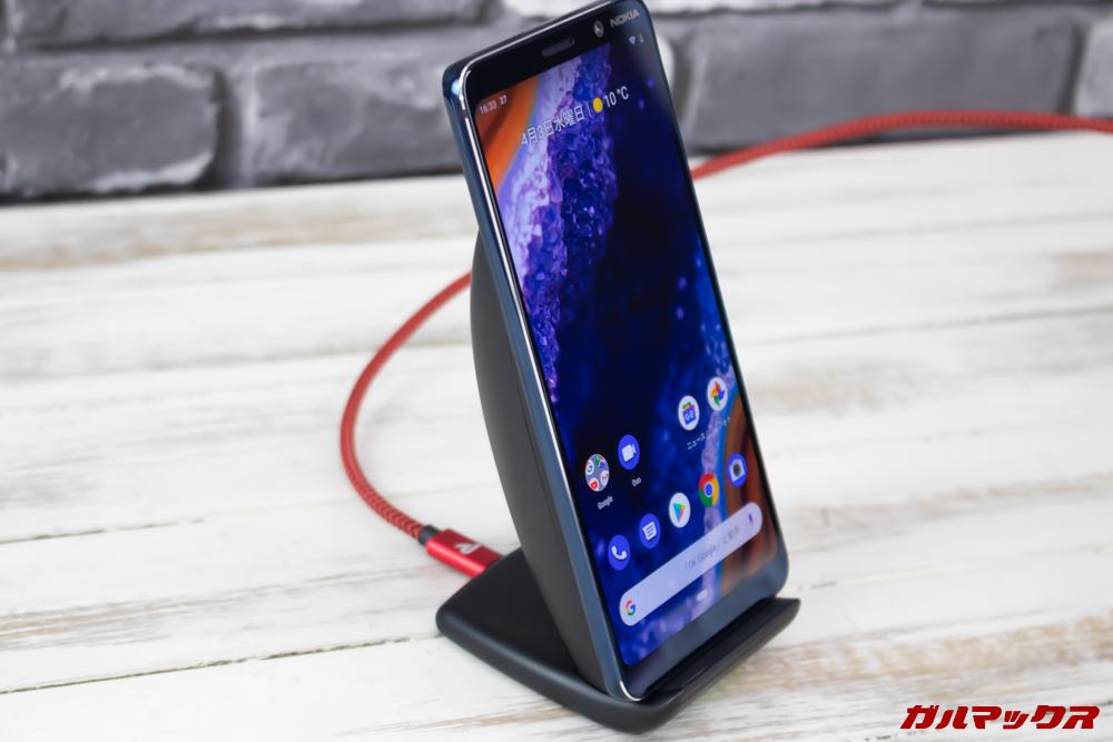 Nokia 9 PureViewはWireless充電に対応しています。