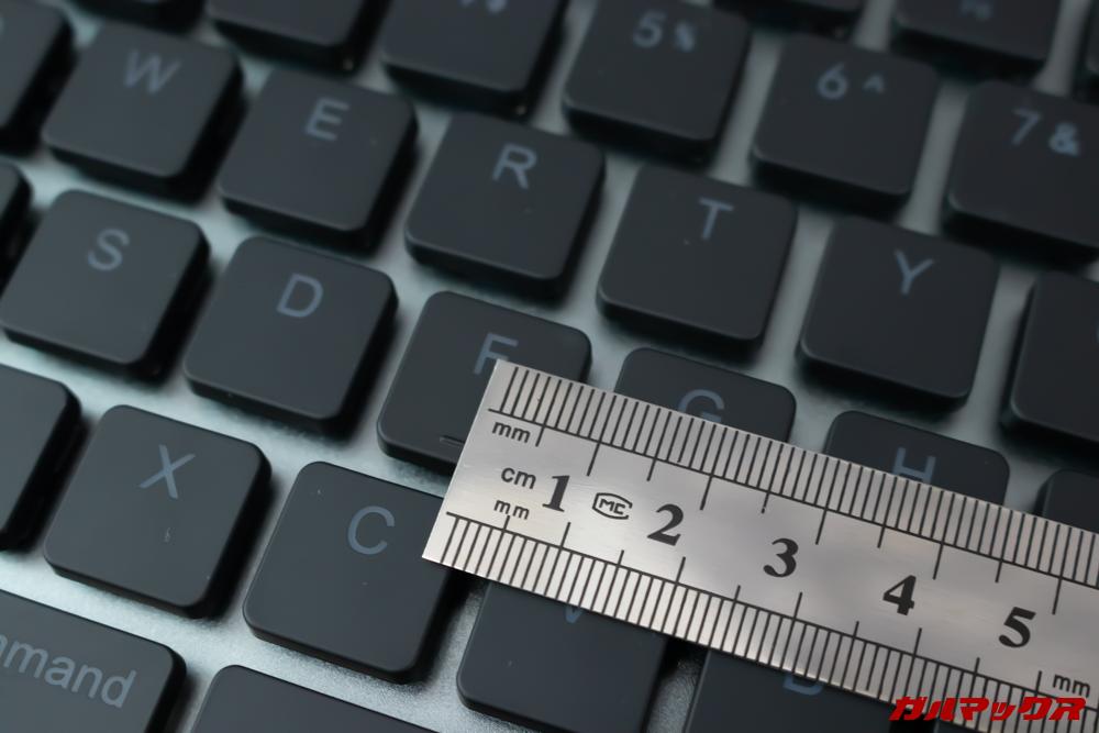 Taptekはキートップが15mmあるので打ちやすいです。