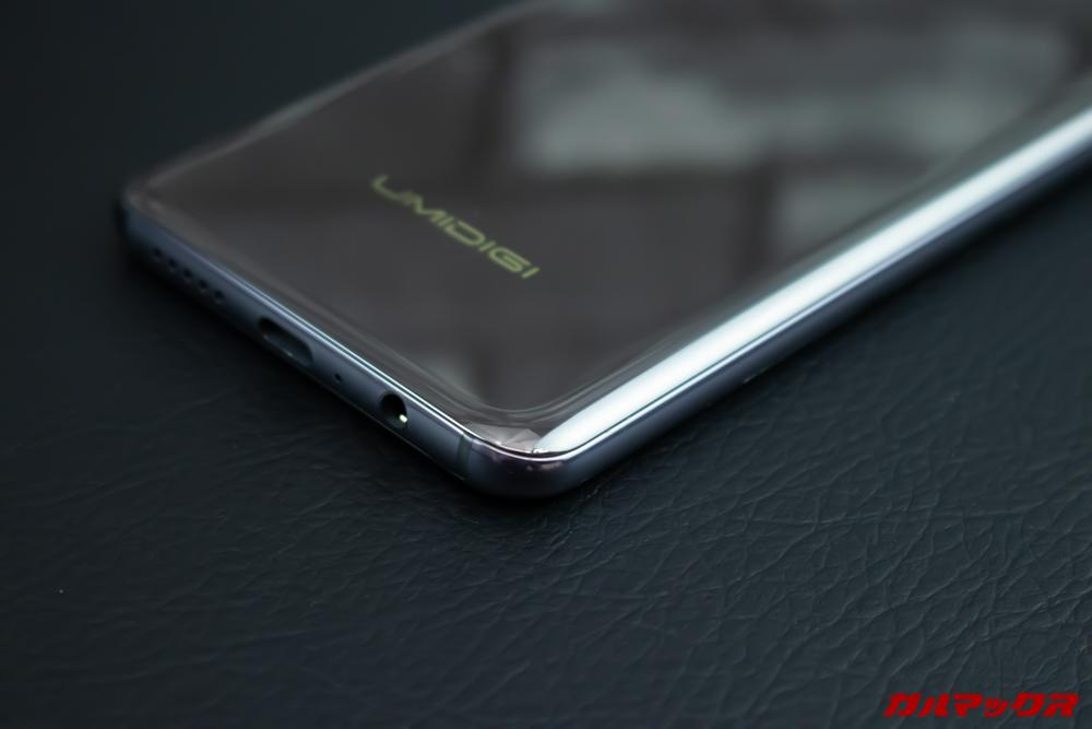 UMIDIGI S3 Proの角は丸みを帯びていて手当たりが非常に良いです。
