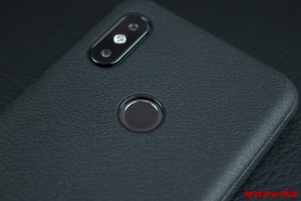 UMIDIGI S3 Proの指紋認証はやや速度が遅いですが、認証精度は高いです。