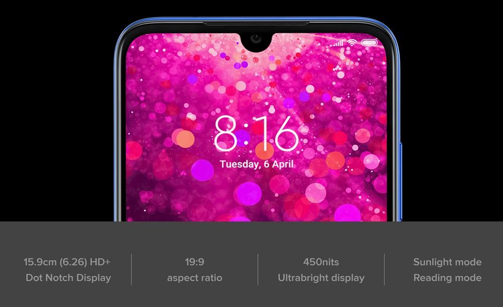 Xiaomi Redmi Y3のディスプレイはHD+
