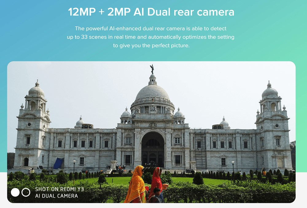 Xiaomi Redmi Y3はAI対応のデュアルカメラを搭載。