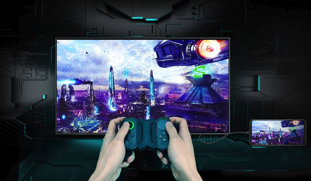 Black Shark 2は大画面でのプレイも可能