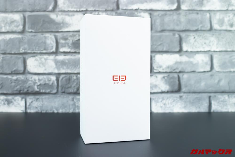 Elephone A6 miniの外箱はホワイトのボックス