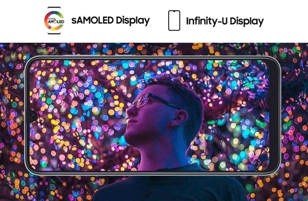 Galaxy A30のディスプレイはAMOLED