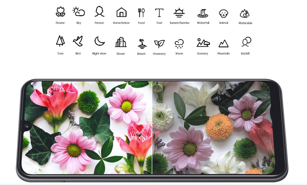 Galaxy A30は写真を美しく加工してくれます。