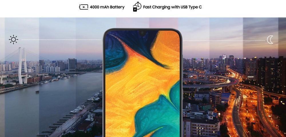 Galaxy A30は大容量バッテリーを搭載しています。