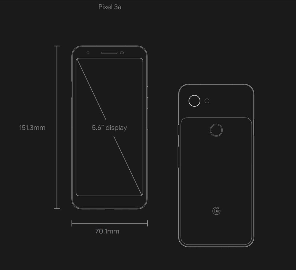 Google Pixel 3aはノッチ非搭載のディスプレイを搭載