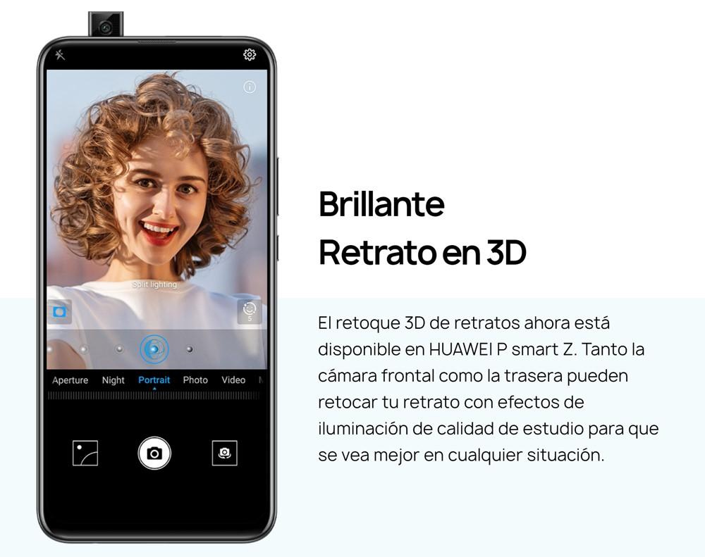Huawei P smart Zのインカメラはシングルカメラですが、背景ボケ味撮影にも対応してます。