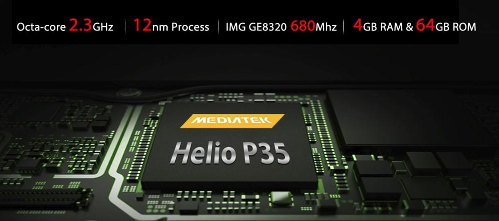 OUKITEL K9はHelio P35、メモリ4GBを搭載するエントリー寄りのミドルレンジモデル。