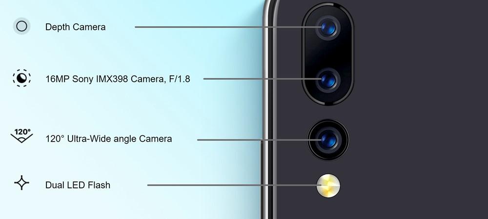 UMIDIGI A5 Proはトリプルカメラを搭載。