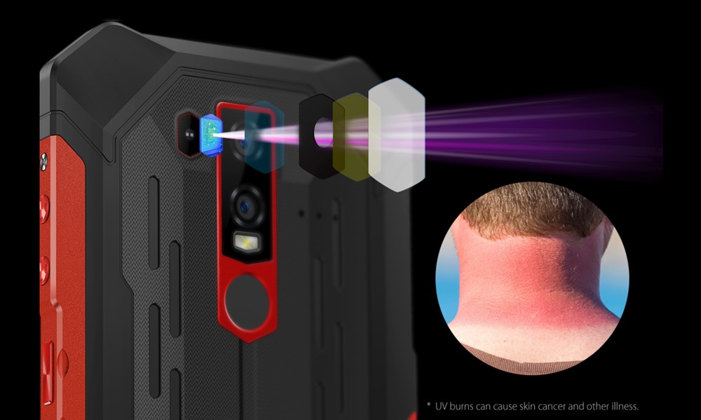 Ulefone Armor 6Eは紫外線センサーを搭載しています。