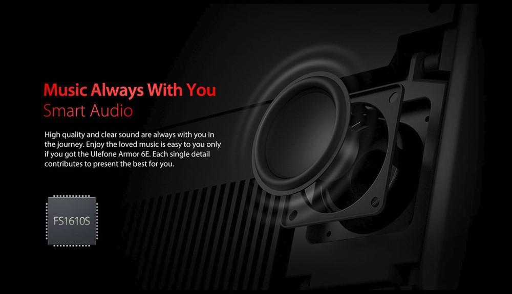Ulefone Armor 6Eは専用のサウンドチップを搭載。